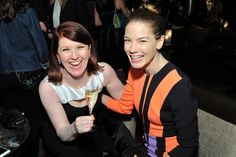 Actresses Kate Flannery and Michelle Monaghan at the #WIFOscars
