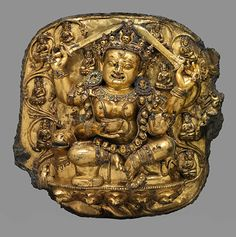 Dhumavati Sridevi. Early 15th century. Gilded bronze and semi-precious stones. H. 18 x W. 19 x D. 7 in. Asia Society, New York: Asia Society...