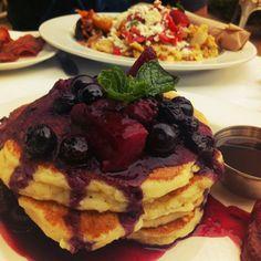 Orange ricotta pancakes- haute cakes, Newport Beach CA