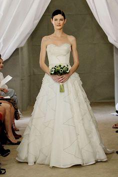 ruffles, carolina herrera fall 2012 bridal