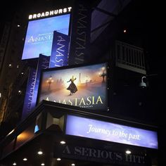 Broadhurst Theater is pretty subtle about what they're showing at the moment but luckily we found it...  Seeing one of my favourite childhood/teenagerhood/lifehood films come to life was so incredible and did not disappoint!  . . . #anastasia #broadway #broadhurst #theater #musical #anastasiathemusical #newyork #nyc #holiday #onceuponadecember