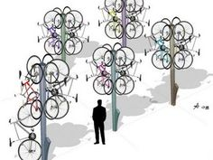 """Bike Tree"" Keeps Bikes Off Ground, Away From Sticky Fingers"