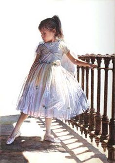 Original Painting, The Delicate Dance of Shadow and Light by Steve Hanks