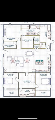 Metal House Plans, Barn House Plans, New House Plans, Dream House Plans, Small House Plans, House Floor Plans, House Layout Plans, House Layouts, Steel Building Homes