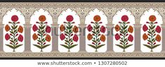 Find Mughal Floral Motif Decorative Border 01 stock images in HD and millions of other royalty-free stock photos, illustrations and vectors in the Shutterstock collection. Thousands of new, high-quality pictures added every day. Decorative Borders, Kids Prints, Stock Foto, Lace Design, Floral Motif, Islamic Art, Royalty Free Photos, Create Yourself, Illustration