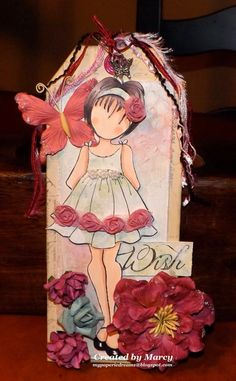 Loves Rubberstamps Blog: WOW Wednesday - Featuring Marcy - Prima Doll With Ruffle Dress