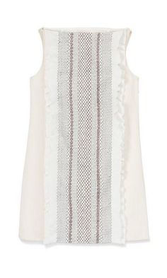 Tory Burch Burlap & Smocked-Silk Dress