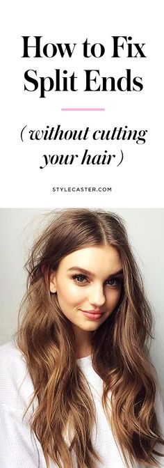 How to fix split ends without cutting them & hair repair + treatment & Stylecaster Split Ends Hair, Split End Treatment, Diy Hair Care, Super Hair, Hair Repair, Belleza Natural, Hair Health, Diy Hairstyles, Beauty