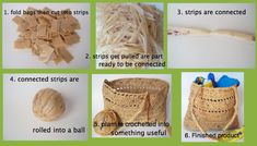"""How to upcycle plastic grocery bags by making them into """"plarn"""" and using the plarn to crochet!"""
