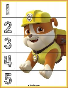 Paw Patrol Number Puzzles - Activities For Toddlers With Autism Autism Activities, Toddler Learning Activities, Infant Activities, Educational Activities, Math For Kids, Puzzles For Kids, Preschool Worksheets, Preschool Activities, Number Puzzles