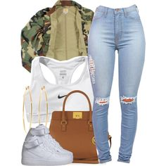 A fashion look from September 2014 featuring NIKE, NIKE sneakers and Michael Kors handbags. Browse and shop related looks.