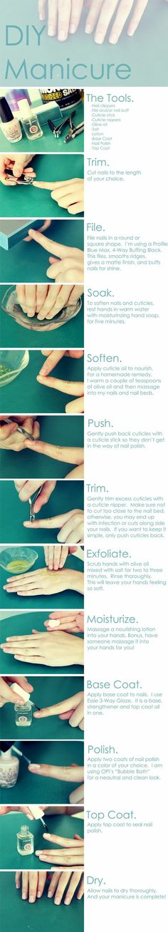 How to do nails right. Why have I never seen this before??