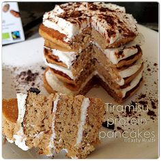 Tiramisu protein pancakes.. add 2 eggwhite to recipe