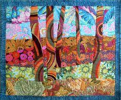 """Kaffe Trees, 22"""" x 18"""" by Sue Rasmussen"""