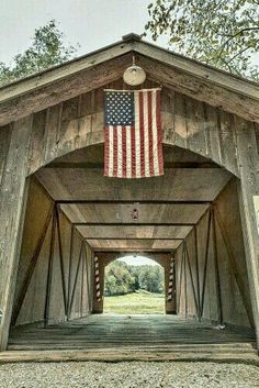 Lost pony truss bridge over a branch of Femme Osage Creek on Becker Joerling Road. Old Bridges, Small Town America, Home Of The Brave, Land Of The Free, Old Barns, Covered Bridges, Architecture, Small Towns, American Flag