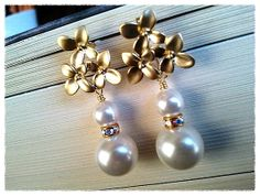Dephnes with Pearl Earrings  bridesmaid by LaLaCrystal on Etsy, $25.50