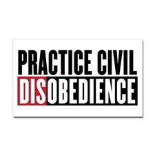 Practice Civil Disobedience Sticker (Rectangle) for