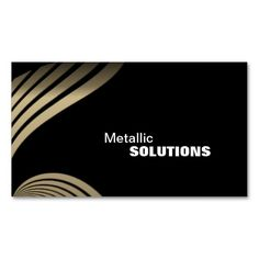 Sheet Metal Trade Business Card - Black & Gold