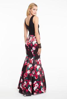 V-Neck Floral Print Dress #camillelavie