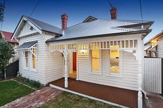 Off white on white Edwardian house. 23 McPherson Street MOONEE PONDS $800,000 - $880,000 @ domain.com.au