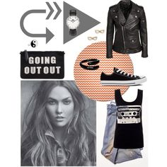 OUT by mirac06 on Polyvore featuring BLK DNM, Free People, Converse, Daniel Wellington, Kate Spade and Accessorize