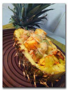 #MaltaDasCavernasMasEmChique: Frango gratinado no abacaxi