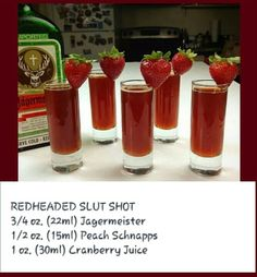 Red headed slut shot