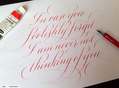 Calligraphy by Rachel Yallop