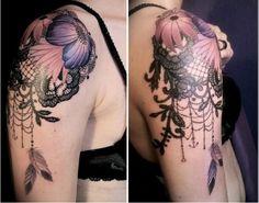 lace arm tattoo. like!