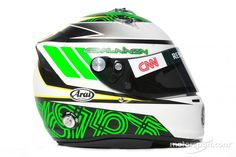 Heikki Kovalainen, Caterham Team helmet at 2012 drivers helmets High-Res Professional Motorsports Photography Racing Helmets, Motorcycle Helmets, Cornrow Hairstyles For Men, Jochen Rindt, Hard Hats, F1 Drivers, Helmet Design, Formula One, Automobile