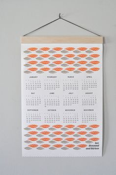 2013 Canvas Feather Calendar by spreadthelove on Etsy, $35.00
