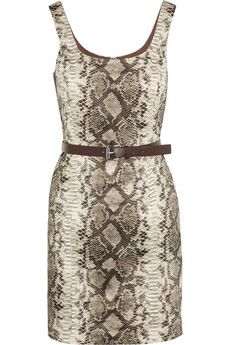 MICHAEL Michael Kors Snake-print stretch-cotton dress   THE OUTNET