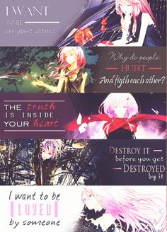 """Quotes from each single by """"EGOIST"""" via cocchan tumblr"""