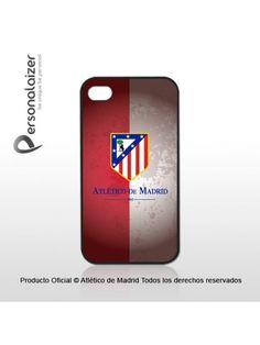 Funda Móvil Atlético de Madrid Escudo sobre fondo Retro