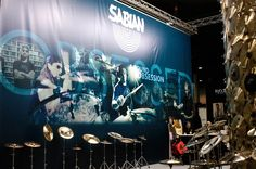 The SABIAN booth at Musikmesse in Frankfurt, Germany