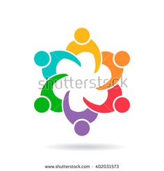 Business people group meeting logo. Vector graphic design illustration