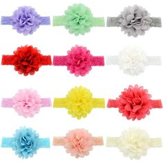 YOY Fashion Baby Girls Boutique Hair Accessories Stretchy Elastic Bands Headbands Set with Chiffon Flower Petal Bows Head Wear for Toddlers Teens Kids Pack of 12 >>> Details can be found by clicking on the image. Chiffon Flowers, Flower Petals, Baby Girl Boutique, Teen Kids, Diy Makeup, Baby Girl Fashion, Baby Girls, Headbands, Toddlers