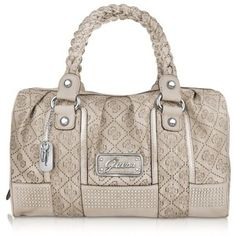 purses and handbags | Home :: Guess Handbags :: Perla - Large 4G Stamped Eco-Leather Satchel ...
