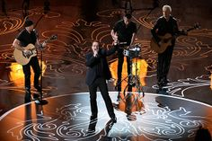 Oscars: Receives Standing Ovation for Original Song 'Ordinary Love' (Video) Great Bands, Cool Bands, Academy Awards 2014, Running To Stand Still, Songs Of Innocence, Bono U2, Oscars 2014, Ike And Tina Turner, Living Legends