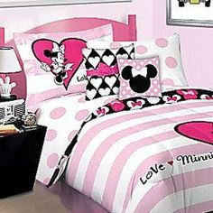 BAILEY'S ROOM - Minnie Mouse bedding