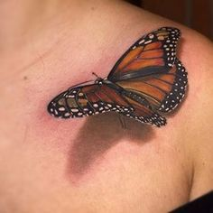 3d tattoo of butterfly Amazing 3d Tattoos, Cute Tattoos, Tattoos For Guys, Norse Tattoo, Viking Tattoos, Tattoo You, Arm Tattoo, Samoan Tattoo, Polynesian Tattoos