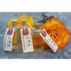 Orange Blossom Oil Party Favors #wedding