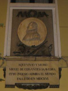 Casa de cervantes en el barrio de las letras de Madrid