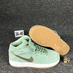 quality design 7fa8c 05cbb Mens Womens Nike Air Force 1 Mid Enamel Green White Gum 818596 300 Running  Shoes Council