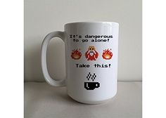 It's Dangerous To Go Alone... Take This! 15 Ounce Coffee/Tea Novelty Mug MugBros http://smile.amazon.com/dp/B013Q3162S/ref=cm_sw_r_pi_dp_wywpwb0CHM3GP