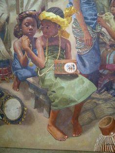 Nigerian artist, Oresegun Olumide. His oil on canvas paintings