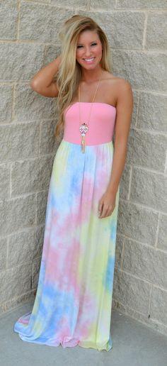 All Things Tye-Dye Maxi Dress