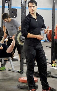 Henry Cavill at the gym