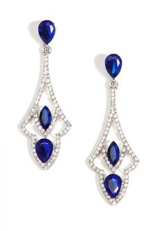 Glamorous Sapphire Chandelier Earrings - -#earrings #jewelry #glam #fashion #style #potd #fashionista - 13,51 � @happinessboutique.com