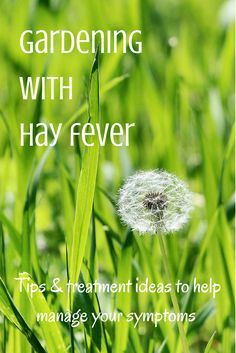 Gardeners who suffer with hay fever don't have to stay indoors until the season is over: here are some tips on how to deal with hay fever symptoms.